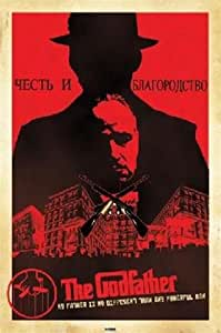 The Godfather Russian Propaganda Marlon Brando Al Pacino Movie Poster 24 x 36 inches