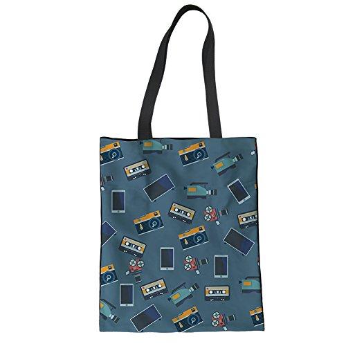 Advocator Mädchen Reisen Tragetaschen für Schule stilvolle Print College Student Handtasche wiederverwendbare Shopper Tasche für Frauen Color-11 ftGxxH