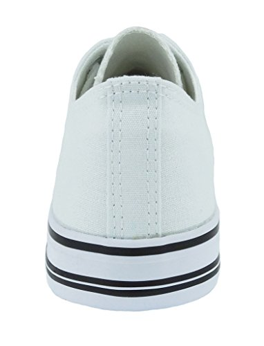 Logan up Pierre 1 Canvas Women's Fashion Dumas Lace White Sneakers wxqEx4