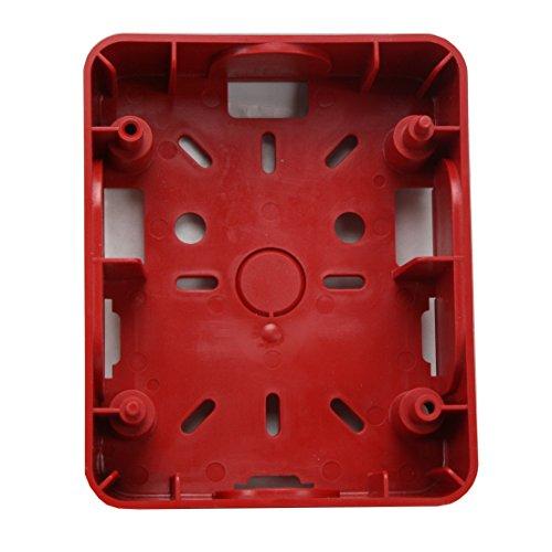 GENTEX 901-0173-000 GSB GSB-R RED FIRE ALARM PLASTIC SURFACE MOUNT BACK BOX (Back Box Fire Alarm)