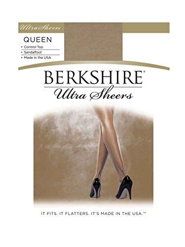 Berkshire Women's Plus-Size Queen Size Ultra Sheer Pantyhose - 4411, Tan De Sol, 5X-6X