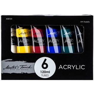 Master's Touch 6-Color Acrylic Paint Set (Touch Of Color Paint compare prices)