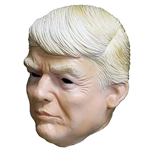 Donald Trump Mask, Realistic Men Male Celebrity Latex Mask Full Head Party Halloween Costumes -