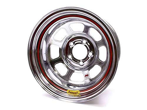 Bassett D-Hole 15x8 in 5x4.75 Chrome Wheel Rim P/N 58DC2IC ()