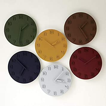 Amazon.com: Large Wall Clock Wall Watch Digital Wall Clock Wall Clock Modern Design Reloj De Pared Decorativo Decorative Yellow 12 inch: Home & Kitchen