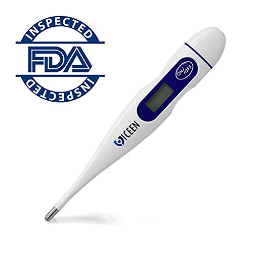 VICEEN Digital Basal Thermometer for Ovulation Tracking BBT - Quick Reading, Highly Accurate 1/100th Degree, High Sensitivity - Fertility Monitor for Best Natural Family Planning