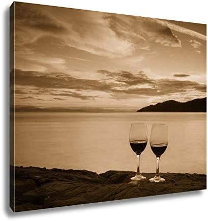Ashley Canvas Romantic Sunset in West Vancouver, Wall Art Home Decor, Ready to Hang, Sepia, 16×20, AG5988211