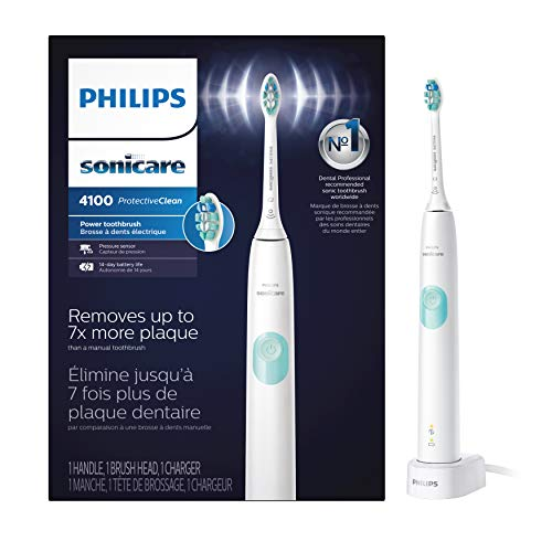 Philips Sonicare ProtectiveClean 4100 Rechargeable Electric Toothbrush, White HX6817/01 (Packaging may Vary)