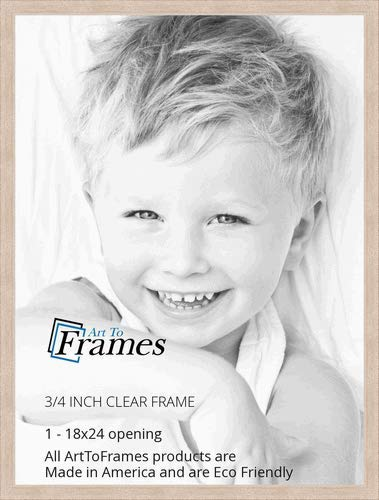 ArtToFrames 18x24 inch Clear Stain on Maple Wood Picture Frame, ()