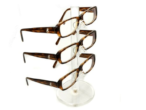 Clear Acrylic 3 Tier Eyeglass Sunglasses Glasses Display ()