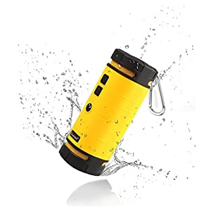 Powerseed BT200 Sports Outdoor Portable Bluetooth Speaker with bike water bottle holder (Yellow)
