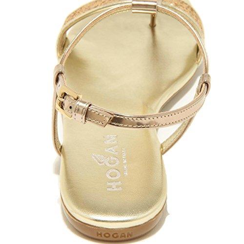 7019F sandalo infradito HOGAN VALENCIA scarpa ciabatta donna SHOES Oro