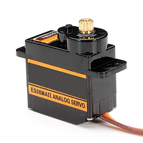 Fullfun EMAX ES08MAII 12g Mini Metal Gear Analog Servo for Rc Hobbies Car Boat Helicopter Airplane Rc Robot Spare Part Black