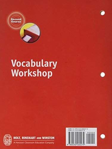 Vocabulary Workshop Second Course Grade 8 Import It All