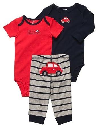 aec4ed701 Amazon.com  Carter s Boys 3-piece Bodysuit Pants Set (6 Months