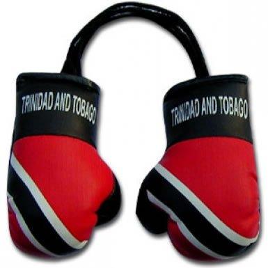 (Trinidad Flag Mini Boxing Gloves)