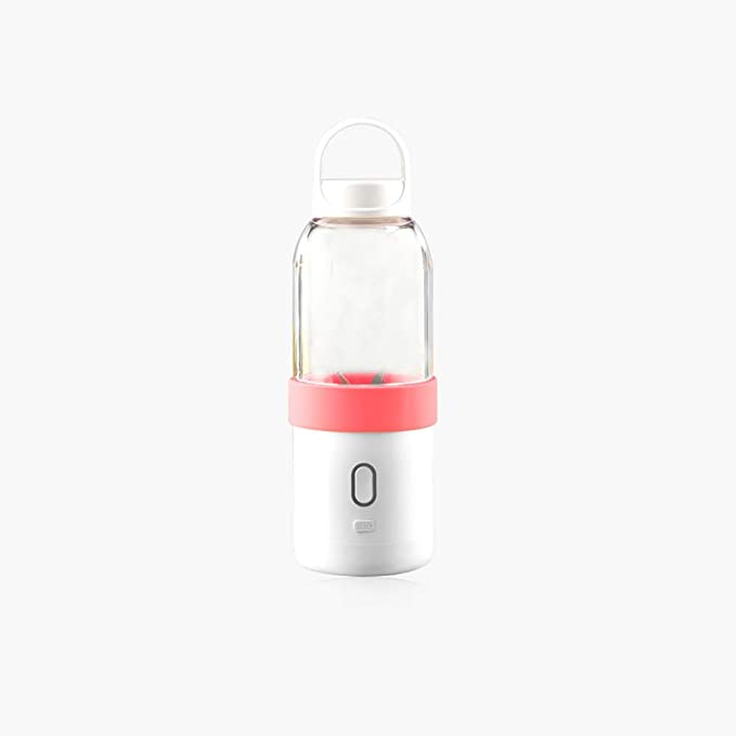 Portable Juice Cup Electric Mini Student Fruit Juice Cup Glass Household Cuisine Multi-function Small Juicer (Pink)