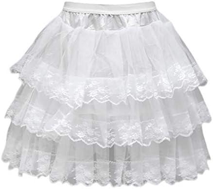 JERKKY Enagua Falda de Vestido de Novia de 1 Pieza 3 Capas Sin ...