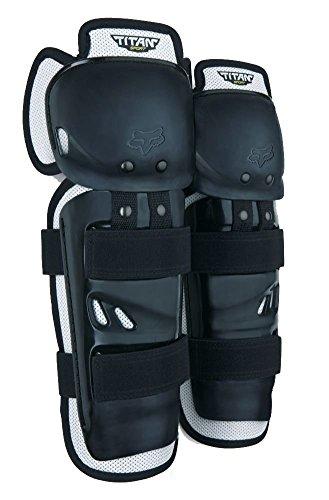 Fox Youth Titan Sport MX Knee/Shin Guard (Black - ONE SIZE) Black Knee Shin Guard