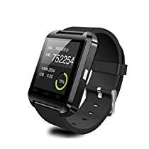 Iuhan Smart Wrist Watch Phone Mate Bluetooth 4.0 For Android HTC Samsung (Black)