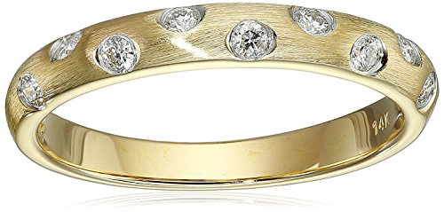 14k Yellow Gold Diamond Band (0.17 cttw, H-I Color, I2 Clarity), Size 7 by Amazon Collection