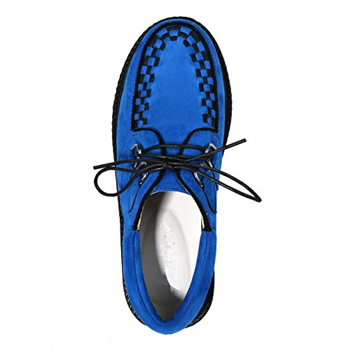 Women's Shoes Casual Oxford Blue Punk Platform Flats Creepers Suede rxqg0r