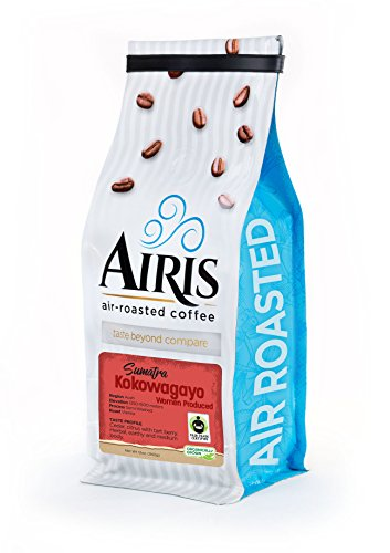 FTO Sumatra Kokowagayo Women Produced Coffee, Everything Bean, AIR ROASTED COFFEE by Airis Coffee Roasters (12oz Bag)