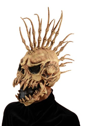 Forum Novelties Men's Sinister Fin Skull Adult Costume Mask, Brown, One Size (Halloween Masks Scary)