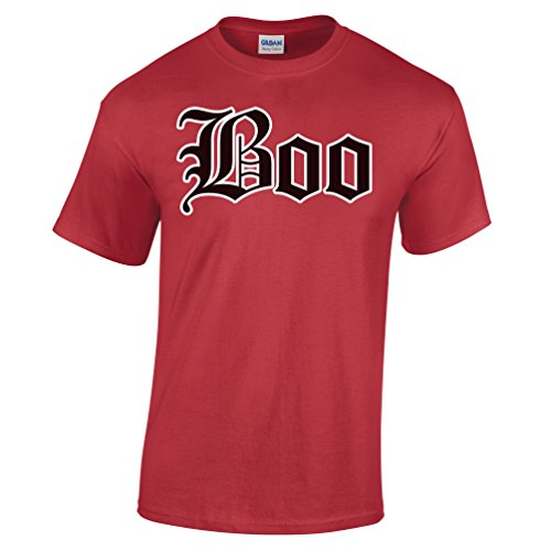 Halloween T Shirt Old English Boo Ghost Fancy Dress Party Costume Trick Treat]()
