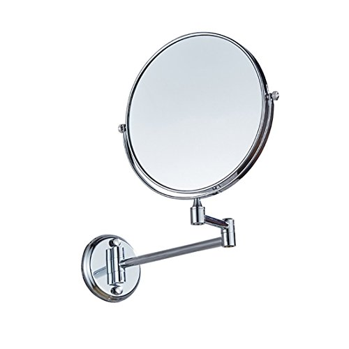 Ysayc Vanity Mirror Double-sided 3x Magnification Wall Mounted Hanging 360° Swivel Bath Spa Hotel Round Bathroom Cosmetic Mirror wall-mounted-mirrors, Silver by Ysayc (Image #1)