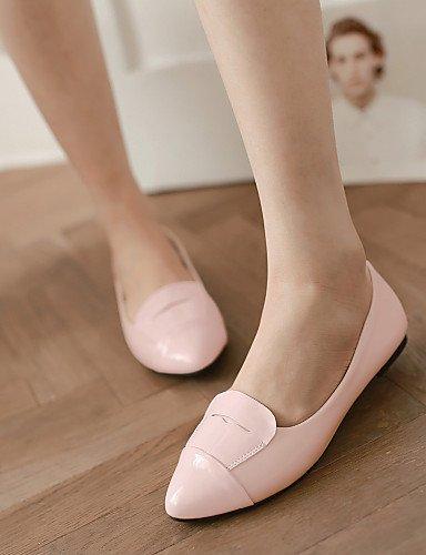 Black Donna pelle punta Piatto Finta Scarpe ShangYi Nero Ballerine A Blu Casual Rosa pOAq7f
