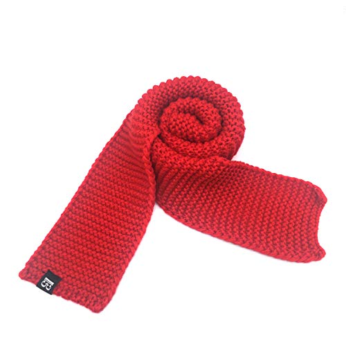 Tied Fashion Scarf (Kids Warm Knitted Scarf Toddler Baby Soft Winter Scarves Wrap Fashion Solid Color Neck Warmer Red)