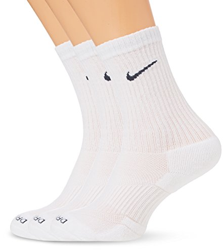 - Nike Mens Dri-Fit Cotton Cushioned Socks Medium (shoe size 6-8) (White)