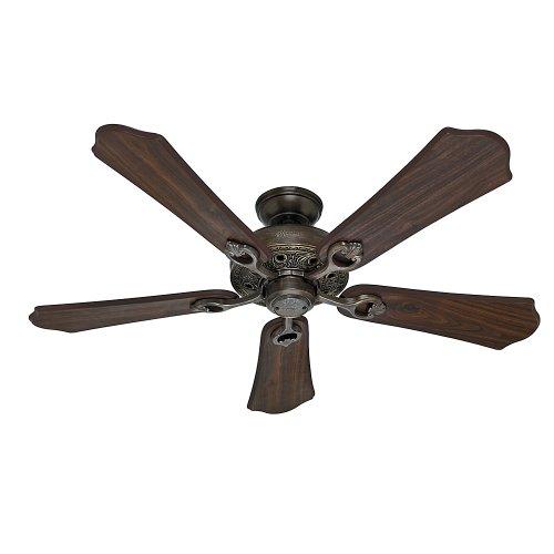 Roman Bronze Ceiling Fan Light (Hunter Fan Company 53202 Kingsbury 52-Inch Ceiling Fan with Five Walnut Blades, Roman Bronze)