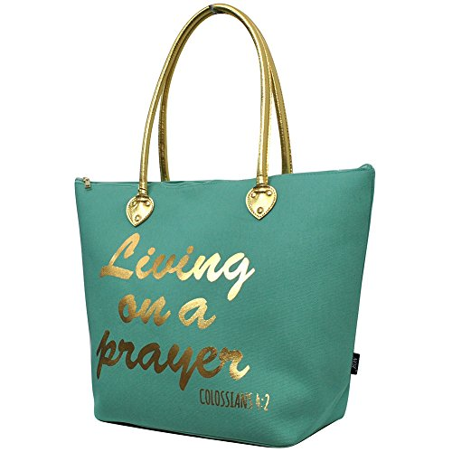 Living on a Prayer Print NGIL Gold Collection Tote Bag