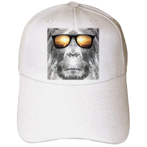 Perkins Designs Characters - Bigfoot In Shades Bigfoot or Sasquatch is pictured in style wearing sunglasses - Caps - Adult Baseball Cap (cap_19405_1)