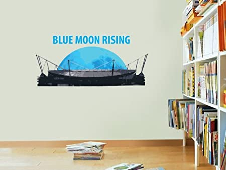 Manchester city blue moon rising wall sticker decal football art print for home bedroom mural