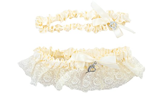 Vintage Wedding Lace Garter Set – Ivory W/ Lace – One to Toss and One to Keep