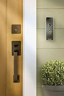 NuTone DCAM100 Knock Smart Video Doorbell Camera, 7.5X2X3, Black