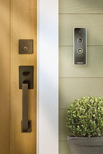 NuTone DCAM100 Knock Smart Video Doorbell Camera, 7.5X2X3, Black