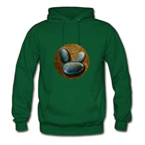 Fredrisim Cuttie Stones #1 Green New Style X-large Sweatshirts Round-collar Women