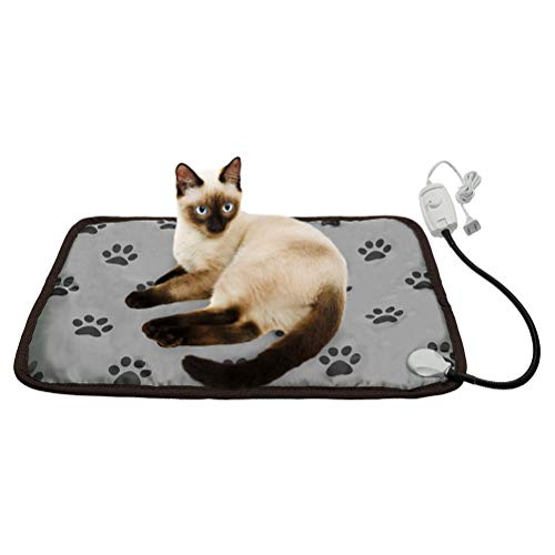 KOOLTAIL Pet Heating Pad for Cats & Small Dogs - Waterproof Electric Pad - Puppy Warming Mat with Chew Resistant Cord 23 X 17