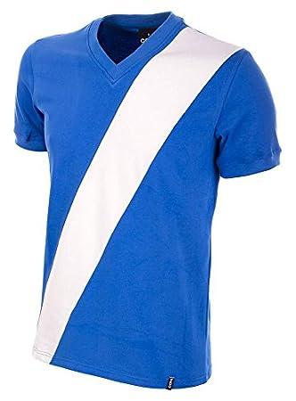 0a4080cba0 Copa Men's Guatemala 1978 Short Sleeve Retro Football Shirt, Blue/White,  Medium