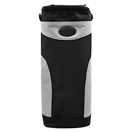 6-To-Go Zippered Beverage Cooler with Shoulder Strap, and Clip