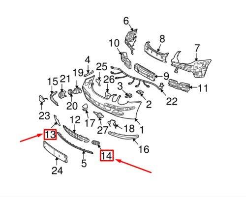 MB W211 A2118850353 A2118850253 - Juego de parrillas para ...