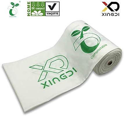 XingDi - Bolsas de basura biodegradables para cocina (30 L, 100 ...