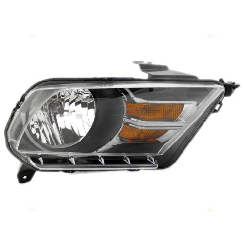 OE Replacement Ford Mustang Passenger Side Headlight Assembly Composite Unknown Partslink Number FO2503276