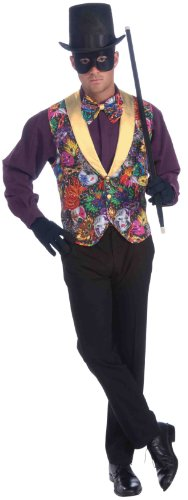 Forum Masquerade Party Costume, Multi-Colored, One -