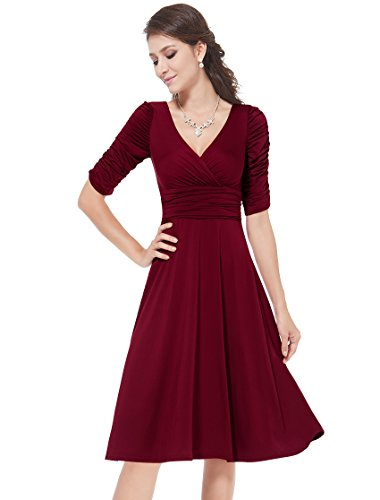 HE03632BD14 Brick-Red 12US Ever Pretty Evening Dresses Cocktail Dresses 03632