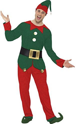 Smiffys Elf Costume, Male ()